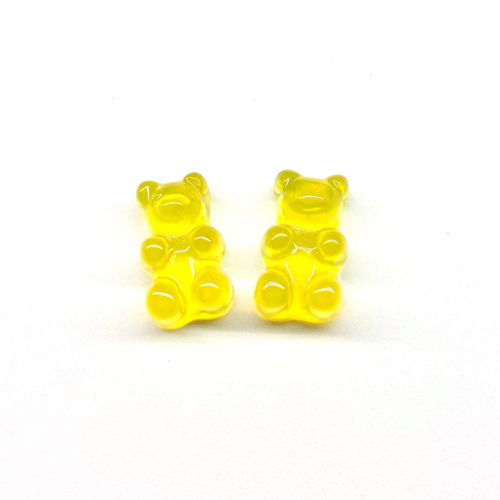 Yellow Gummy Bear Earrings