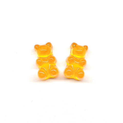 Orange Gummy Bear Earrings