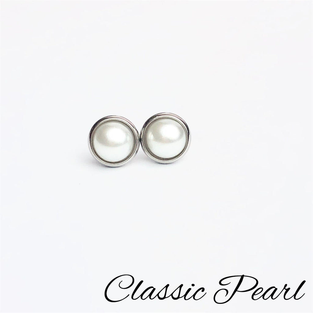 Pearl 6mm Stud Earrings