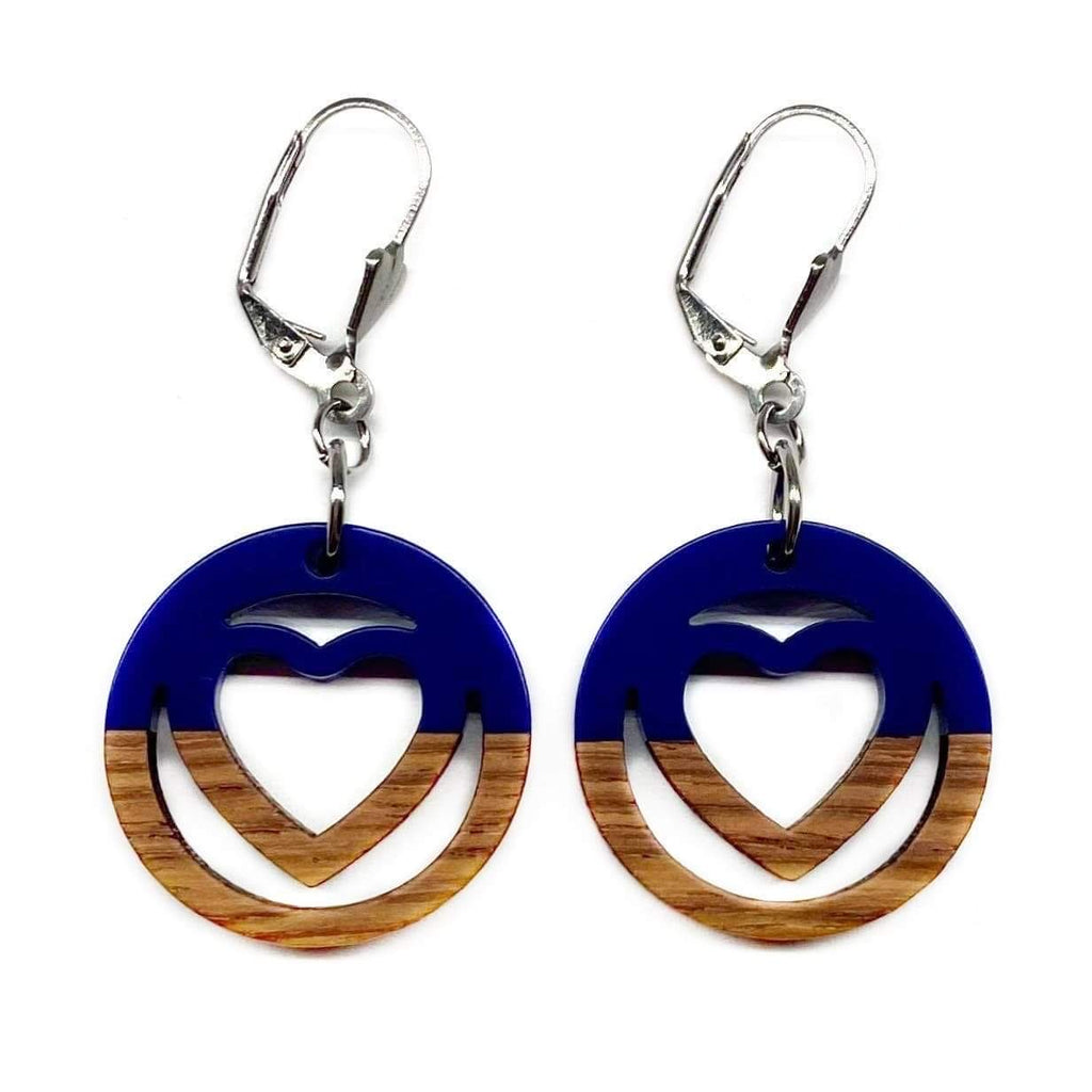 Navy Cleopatra Wooden Dangle