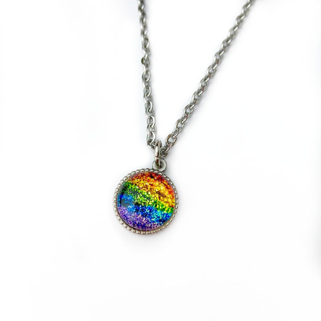 Rainbow Glitter Necklace