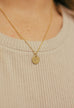 Disc Initial Dainty Necklace - Shop Kindred Together