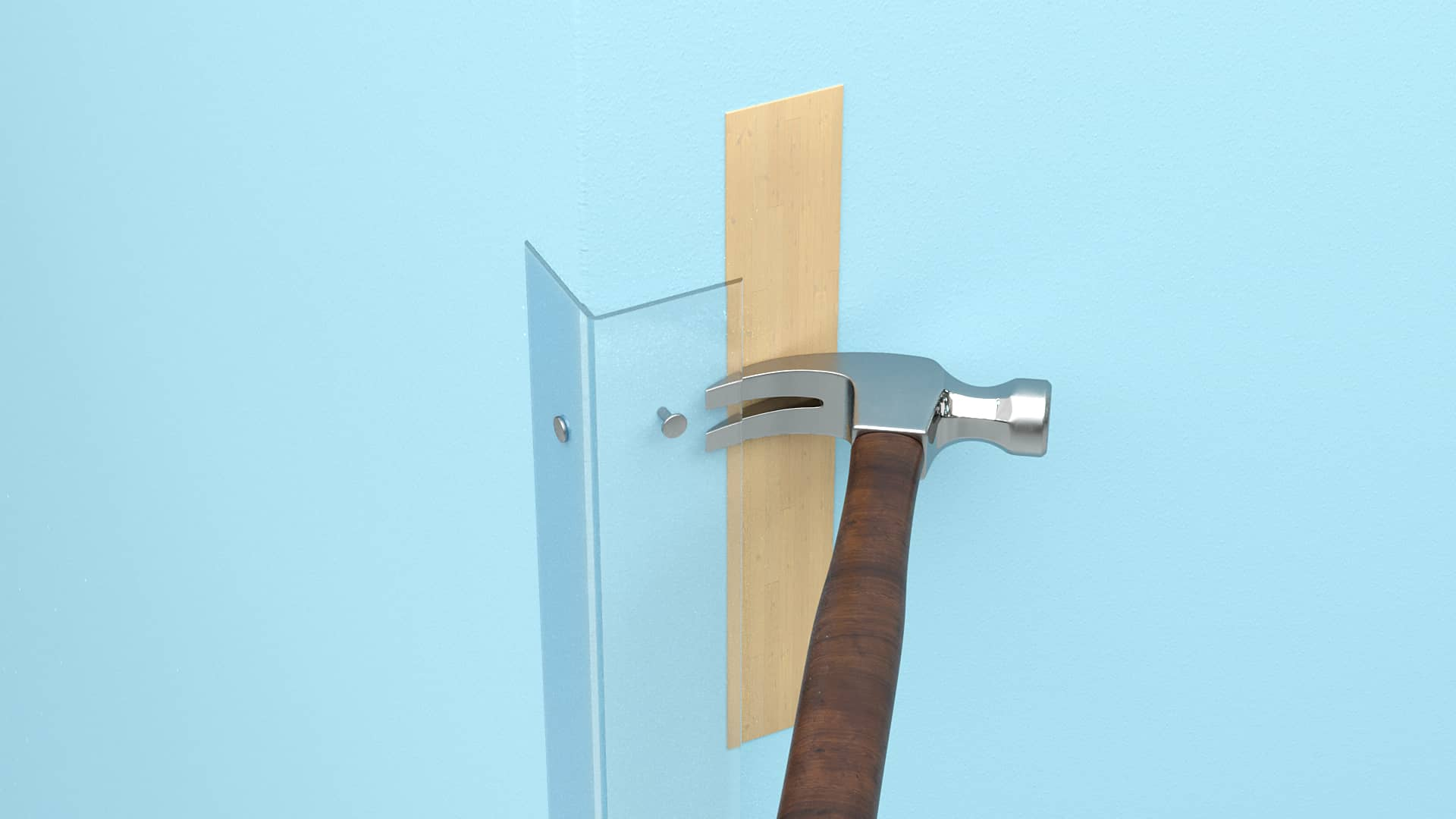 Removing corner guards with nails