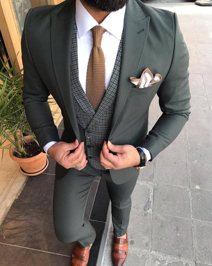 Joseph L-Green Slim-Fit Suit