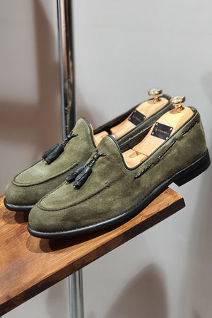 Milwaukee Suade Leather Loafer Green