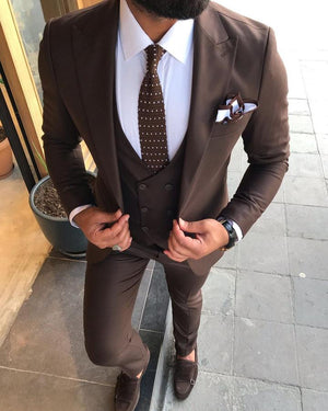 Davis Brown Slim-Fit Suit