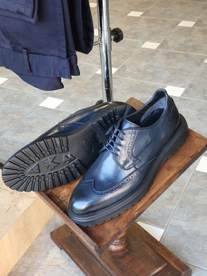 Argeli Navy Blue Wingtip Oxfords
