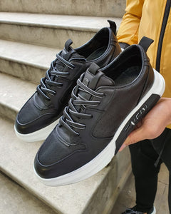 Bojo Bellingham Black Lace Up Sneakers