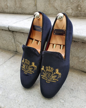 Lance Black Velvet Slippers