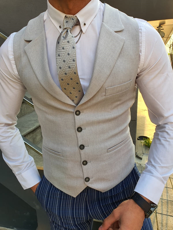 Forenza Gray Slim Fit Vest