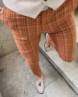 Lumas Bellingham Orange Slim Fit Pants