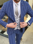 Forenza Sax Slim Fit Pinstripe Suit
