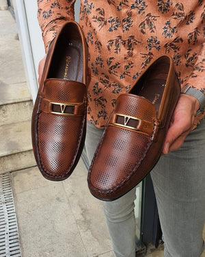 Custer Tan Bit Loafers