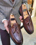 Lance Fort Worth Brown Leather Tassel Loafer