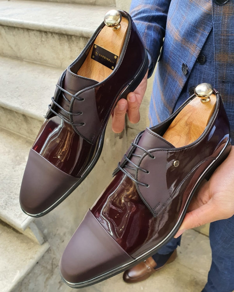 Lance Fort Worth Burgundy Cap Toe Laced Blucher