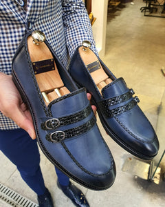Lance  Fort Worth Navy Blue Buckle Loafer