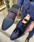 Lance Fort Worth Navy Blue Cap Toe Laced Blucher