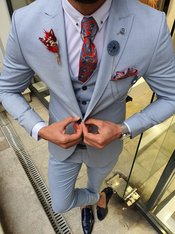 Marc Slim-Fit Suit Vest Blue