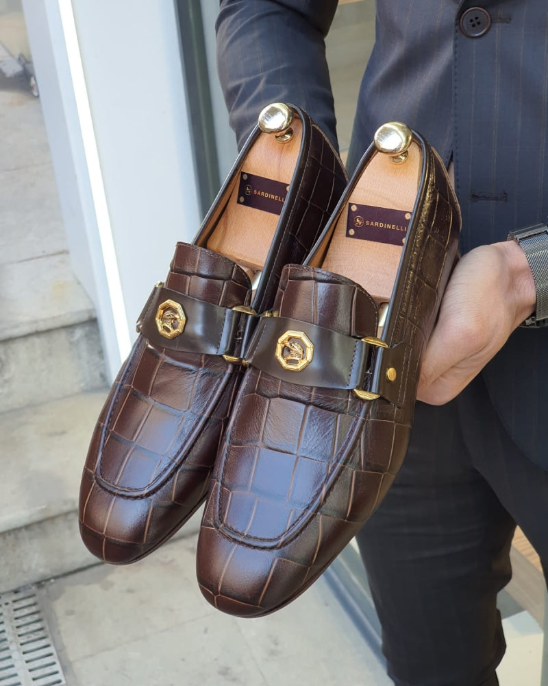Lance Brown Leather Buckle Loafer