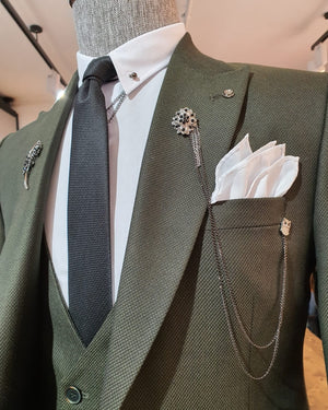 Genzano Khaki Slim Fit Suit