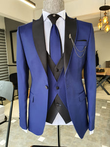 Lori Sax Slim Fit Peak Lapel Wedding Suit