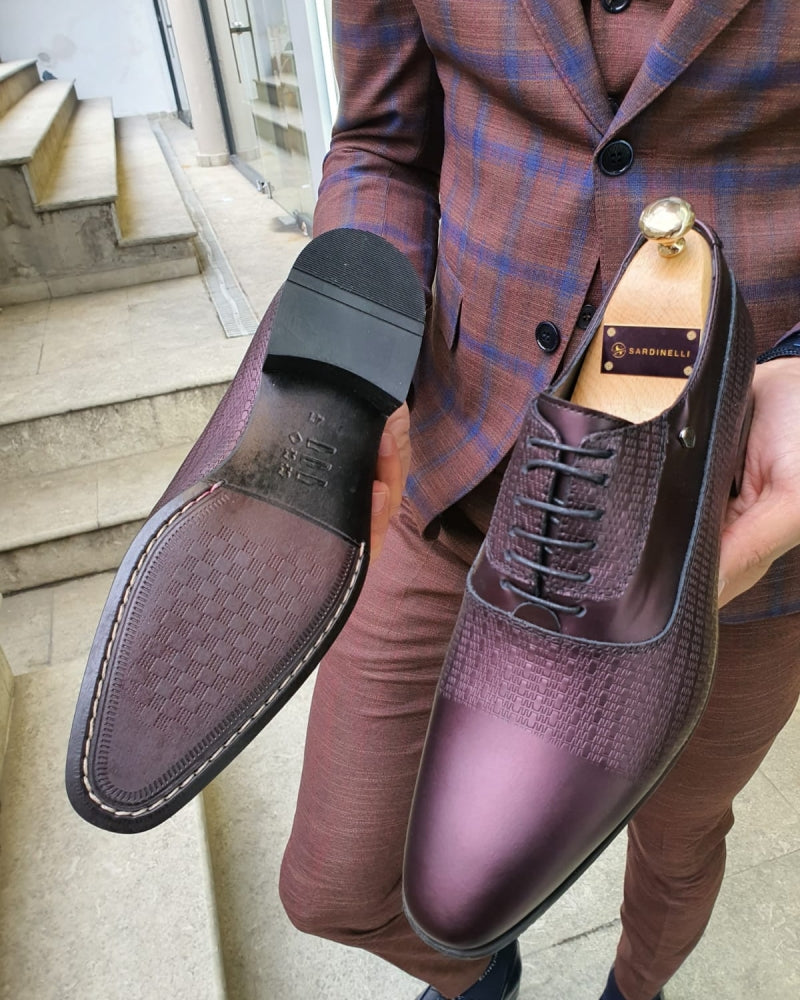 Lance Burgundy Leather Laced Oxford