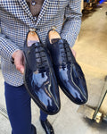 Lance  Navy Blue Laced Oxford