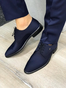 Leone Navy Suede Shoes