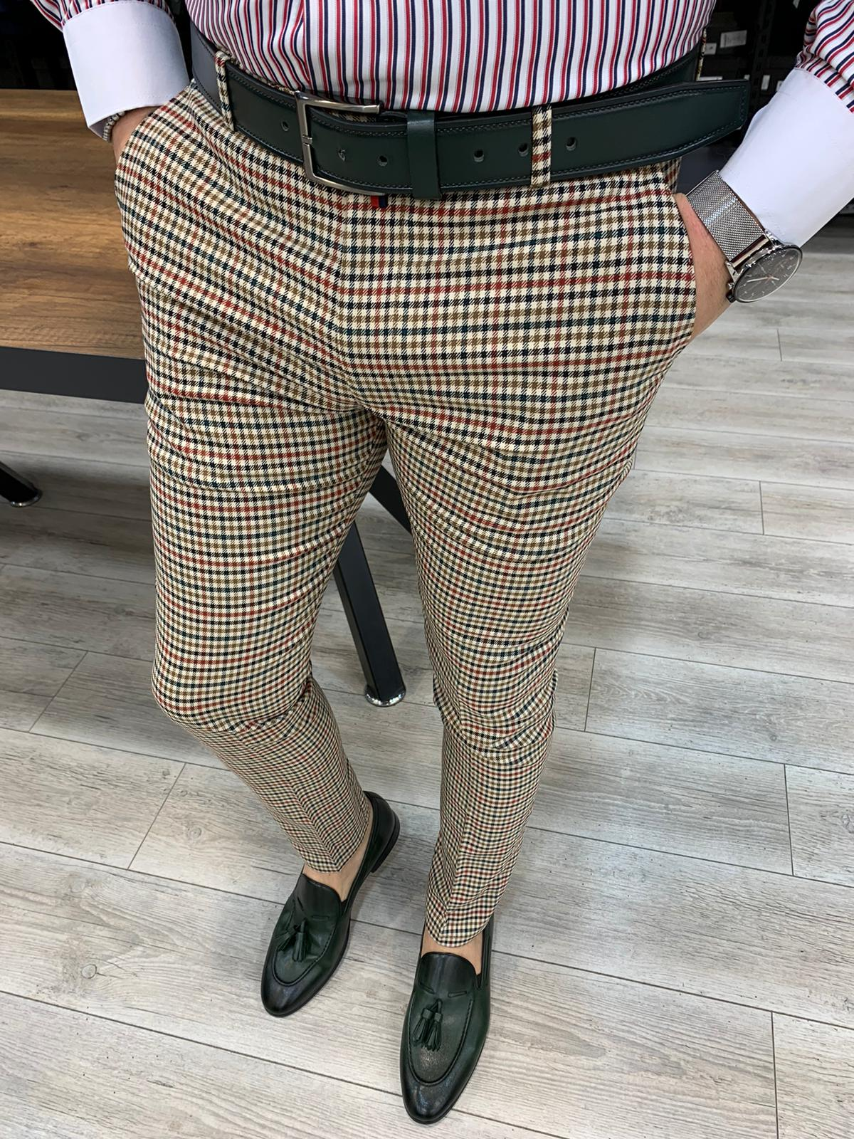 Ferrar Mix Plaid Pants
