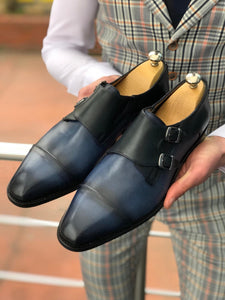 Densoss Limited Leather Shoes Navy Blue