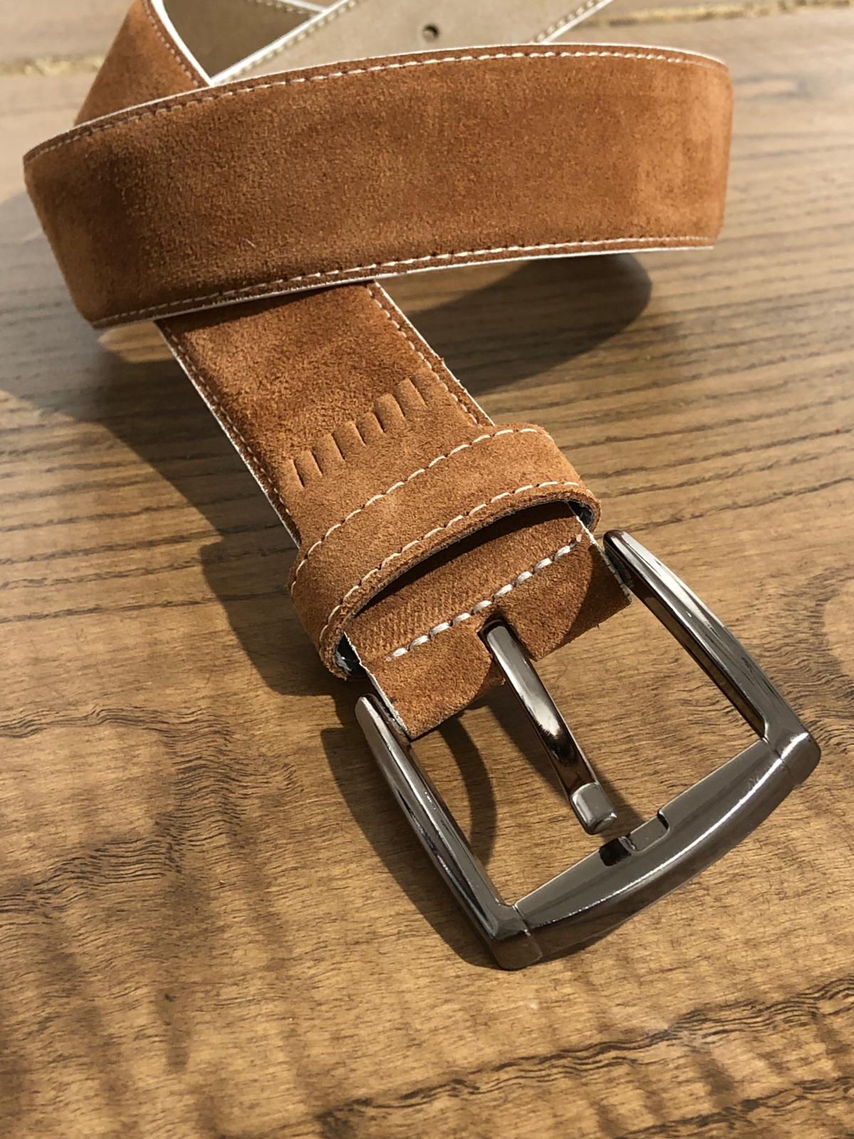 Suede Tasseled Detailed Leather Belts in 5 Colors