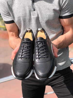DODI Laced Sports Shoes Black