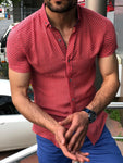 Blake Red Short Sleeved Slim Shirt