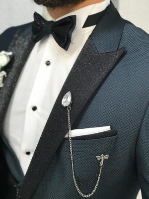 Matteo Royal Slim Fit Tuxedo Green