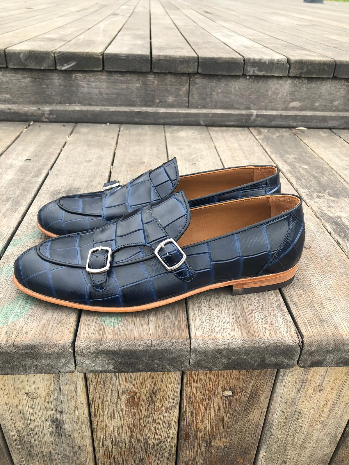 SARDINELLI LIMITED BLUE LOAFERS