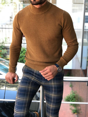 Slim-Fit Turtleneck Knitwear Camel