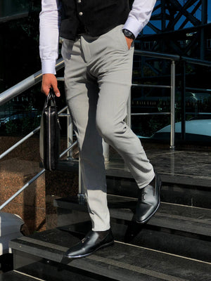 Mason Slim-Fit Fabric Pants Grey