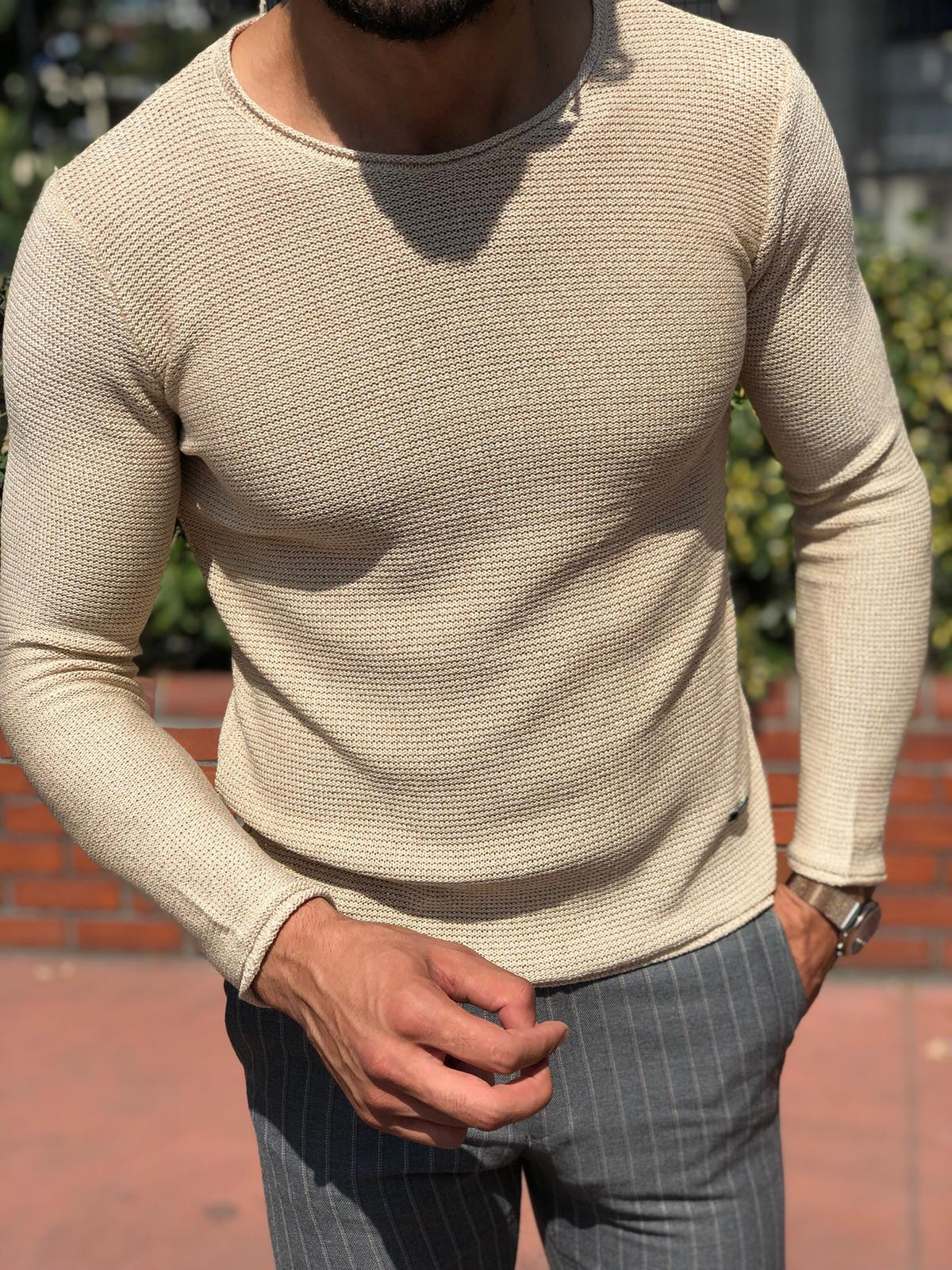 Merus Slim-Fit Knitwear Beige