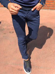 Mason Slim-Fit Pants Indigo