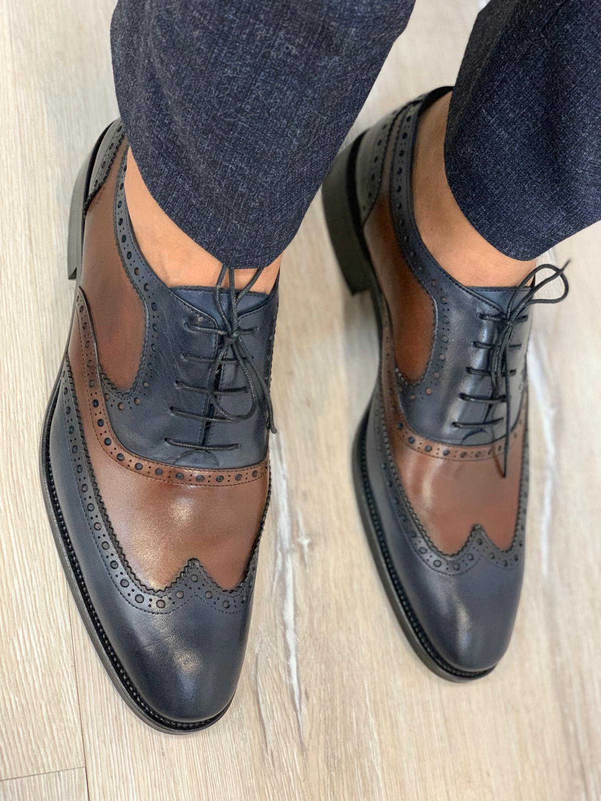 Marc Limited Shoes in Brown/Navy