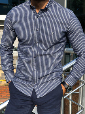 Wales Slim-Fit Striped Shirt in 2 Colors