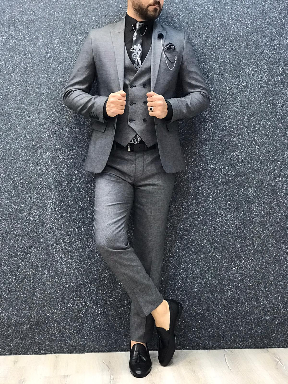 Doral Gray Slim Fit Suit