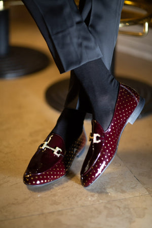 Sardinelli Buckle Detail With Patent Leather Shoes Burgundy