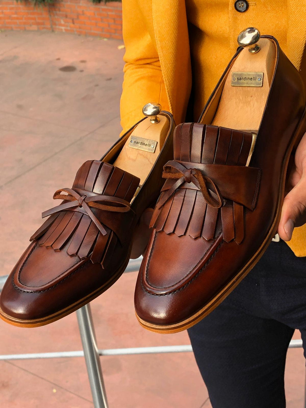 Sardinelli Tassel Detail Leather Shoes Tan