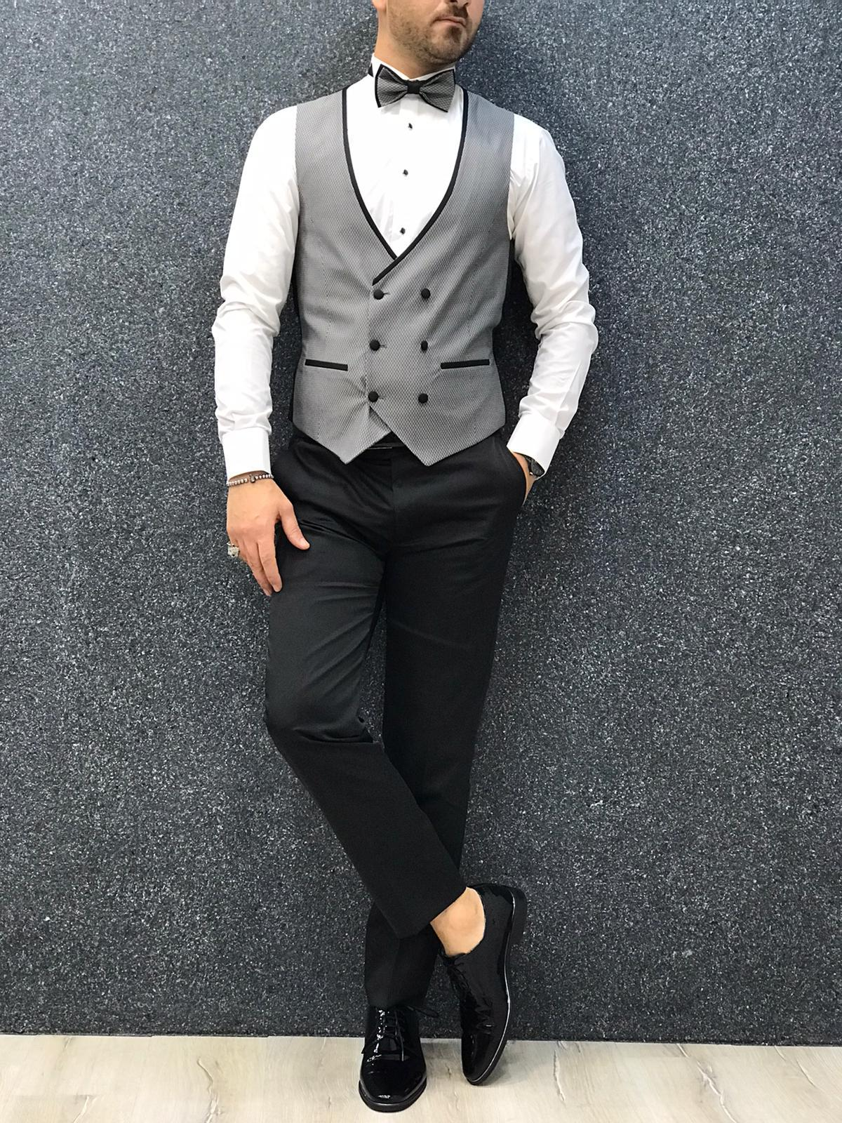 Royal Gray Slim Fit Tuxedo