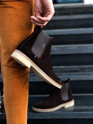 Suade Leather Classic Chelsea boots Brown