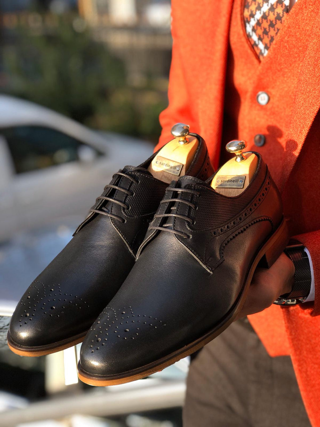 Sardinelli Laced Classic Leather Shoes Black
