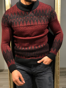 Tommy Slim-Fit Wool Half Turtleneck Knitwear Red