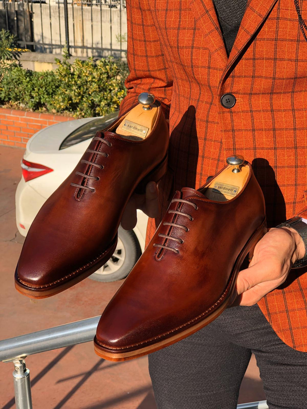 Sardinelli Laced Classic Leather Shoes Tan