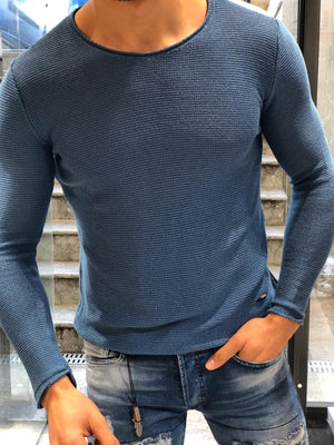 Ponto Slim-Fit Knitwear Indigo